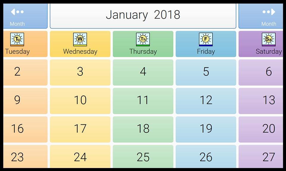 Jamie's calendar grid set.