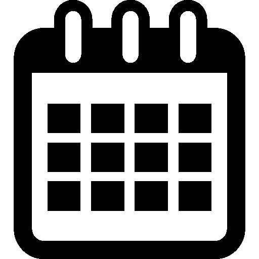 Calendar interface symbol tool Icons.