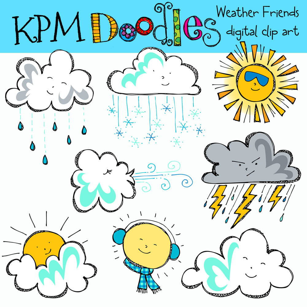 Free Weather Clipart For Teachers.
