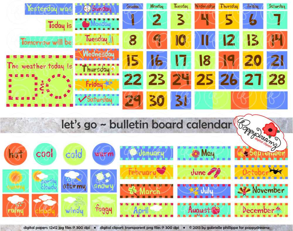 Calendar Numbers Clipart : Calendar weather clipart for teachers clipground