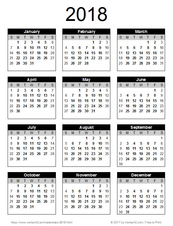 Calendario 2018 espa ol clipart clipart images gallery for.