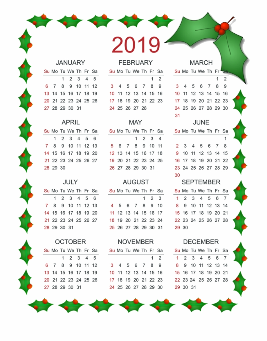 Calendar Christmas 2019 With Png Others 850 1100 Transprent.