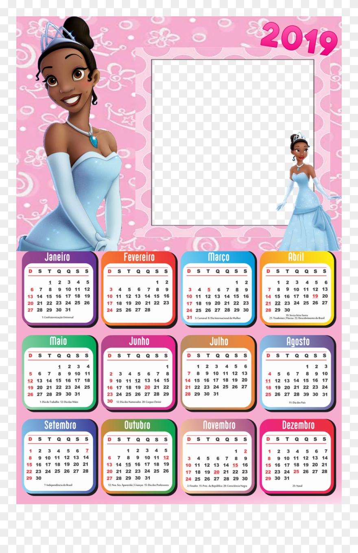 Calendário 2019 Princesa Tiana.