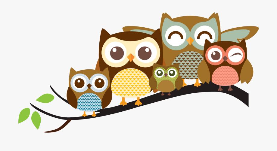 Clip Art Transparent Stock Cute Owl Family Clipart.