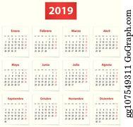 Calendario Clip Art.