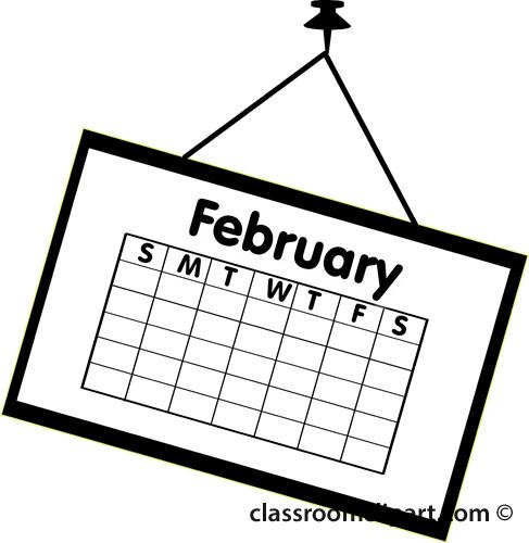Clipart of february calendar.