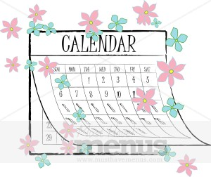 Calendar And Graphics Clipart.