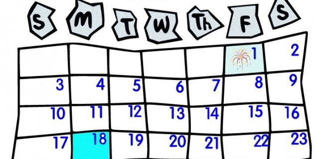 2016 january calendar clipart.
