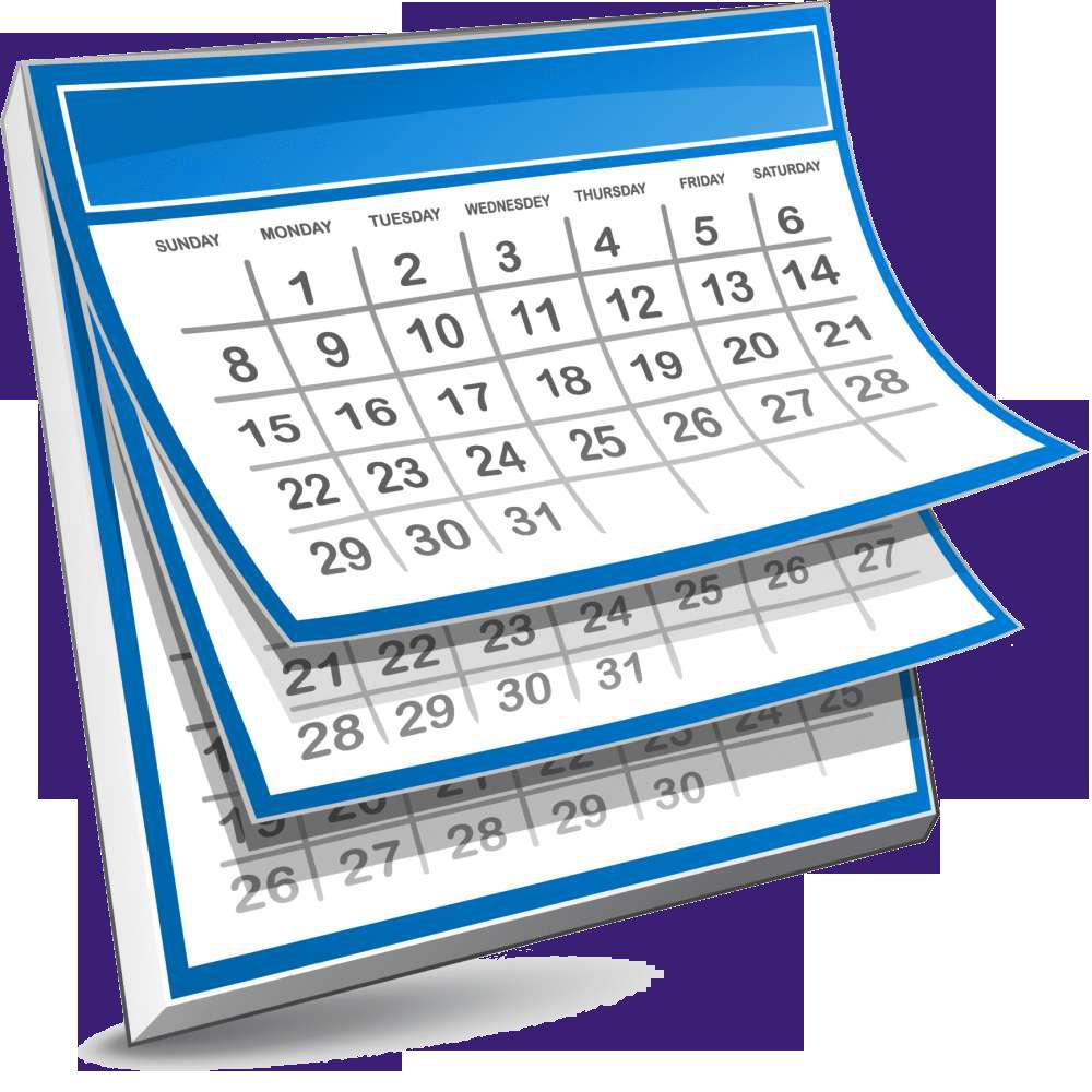 Schedule clipart calendrier, Schedule calendrier Transparent.