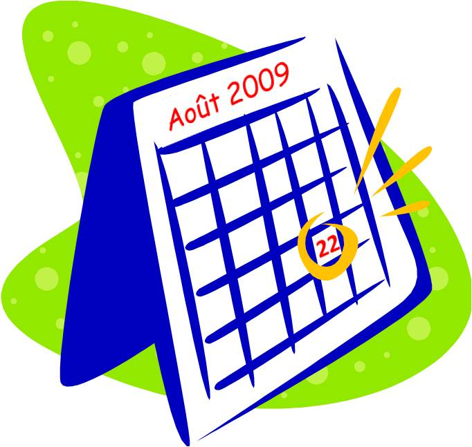 Calendrier clipart 9 » Clipart Station.