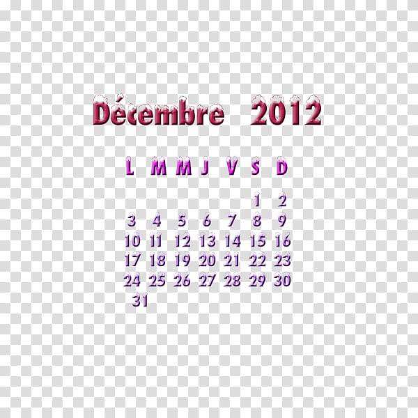 Calendar 0 December 1, CALENDRIER transparent background PNG.