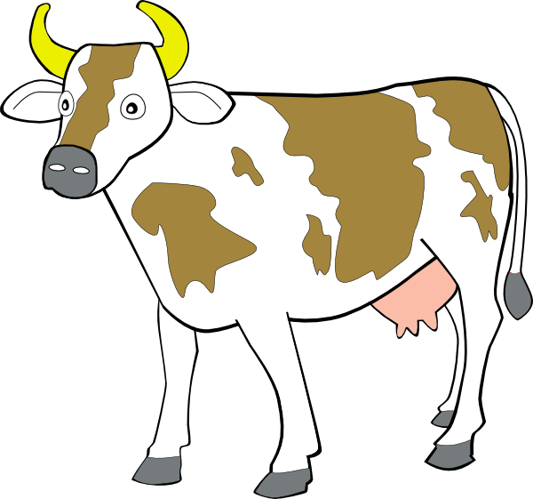 Indian Cow With Calf Clipart.