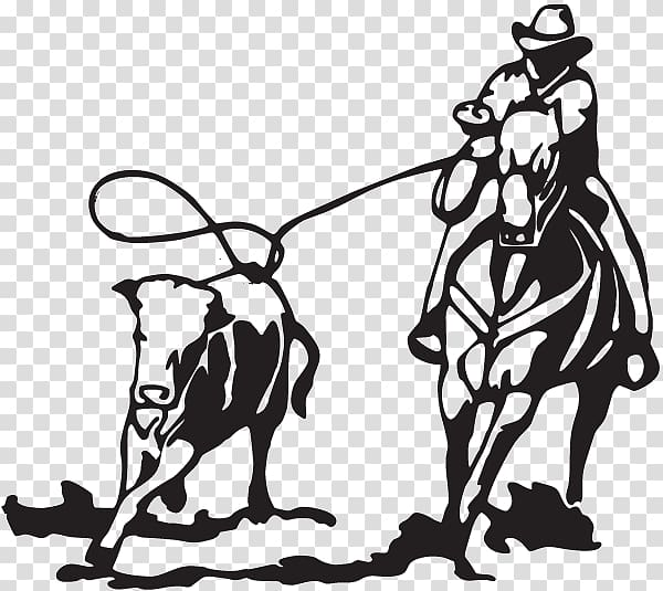 Calf roping Cattle Team roping Decal, others transparent.