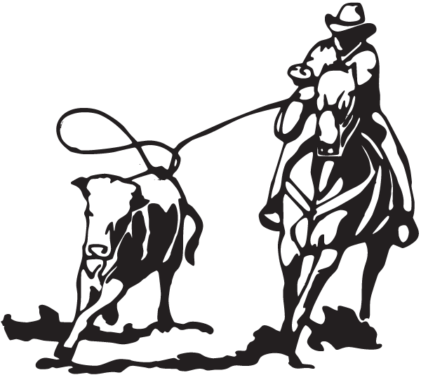 Calf roping Cattle Team roping Decal.
