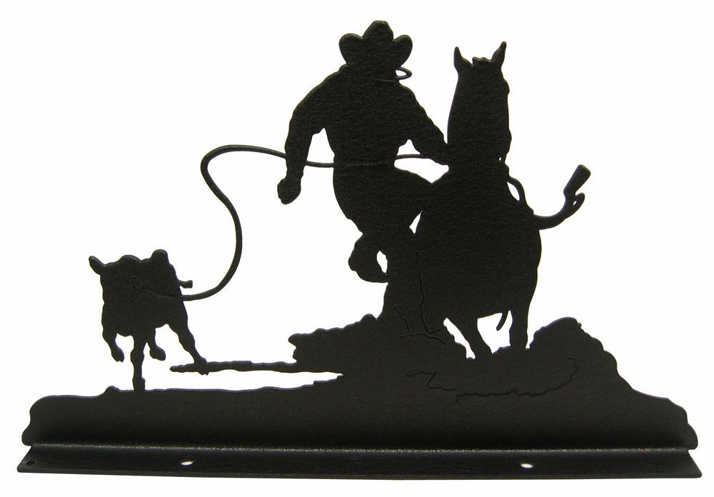 Details about Calf Roper Rodeo Mailbox Topper Decor Roping.
