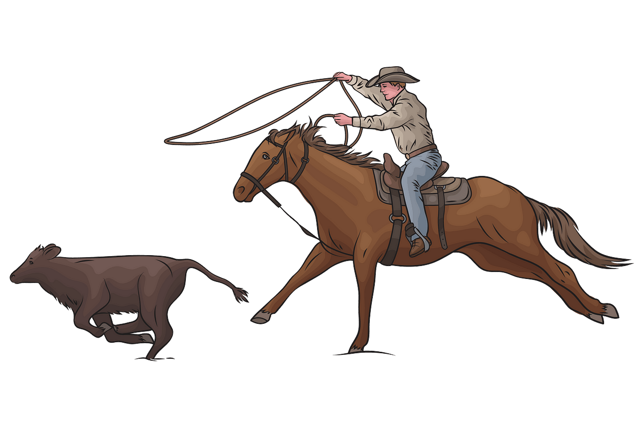 Calf Roping Rodeo clipart. Free download..