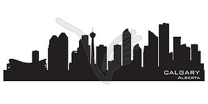 Canada skyline. Detailed silhouette.