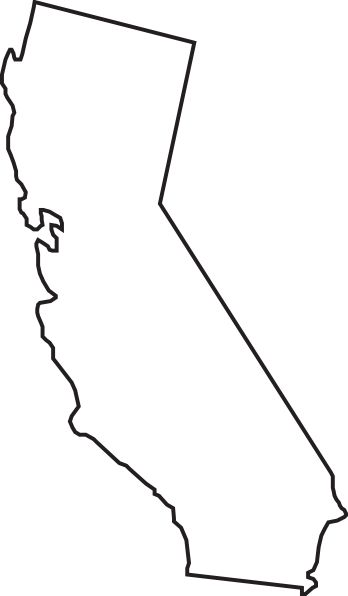 california outline clip art.