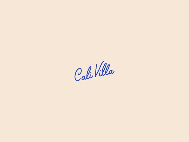 Cali Villa Photography Logo by AnneMarie Ellis on Dribbble.