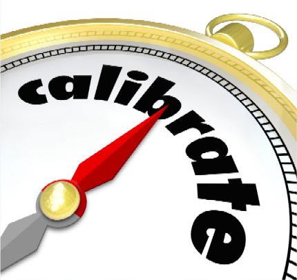 calibrate.