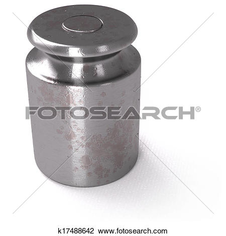Clip Art of Small calibration weight on white background k17488642.