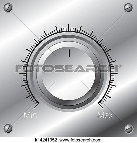 Clipart of Volume knob with calibration k14241952.