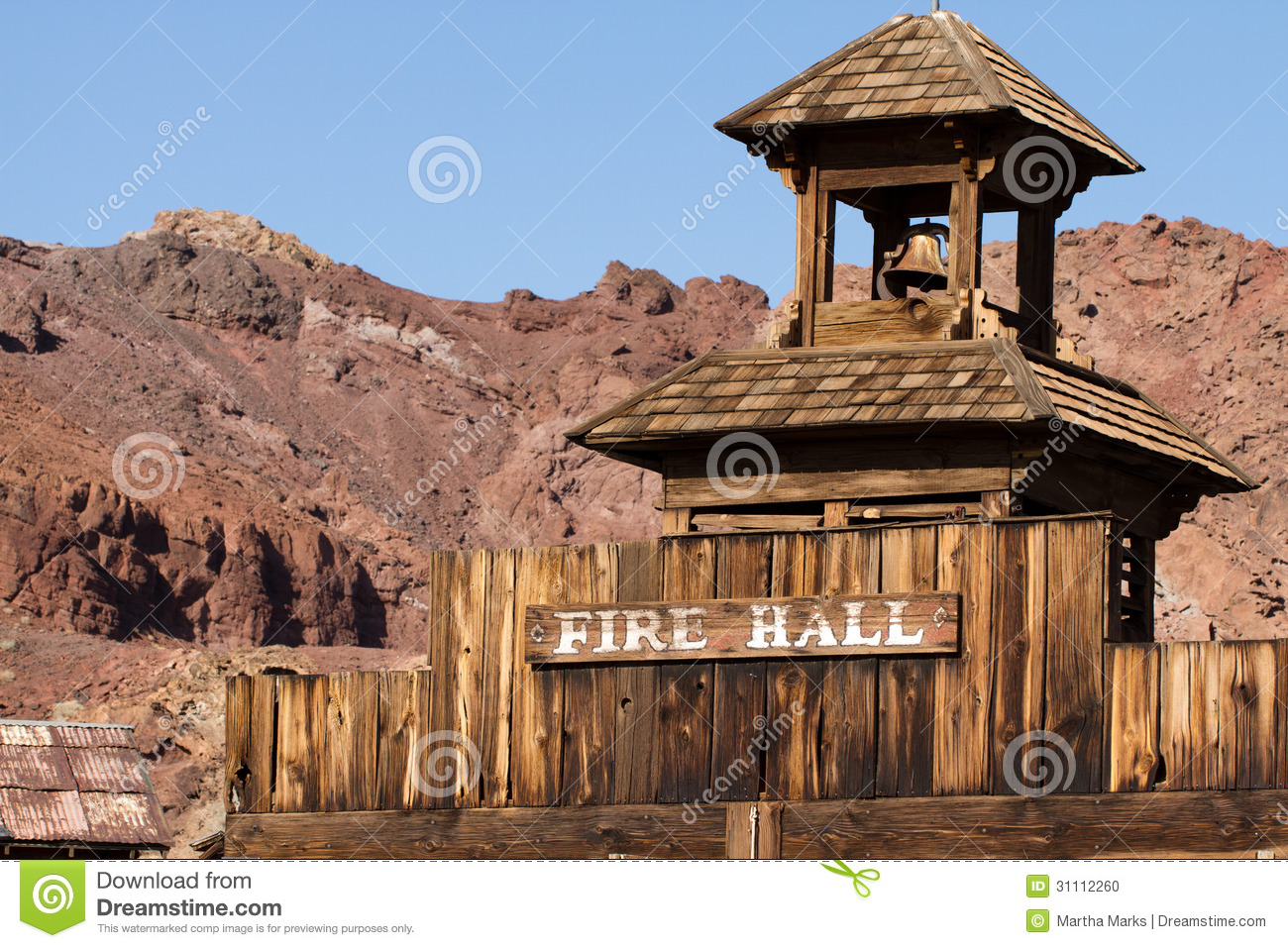 Calico Ghost Town Stock Photo.