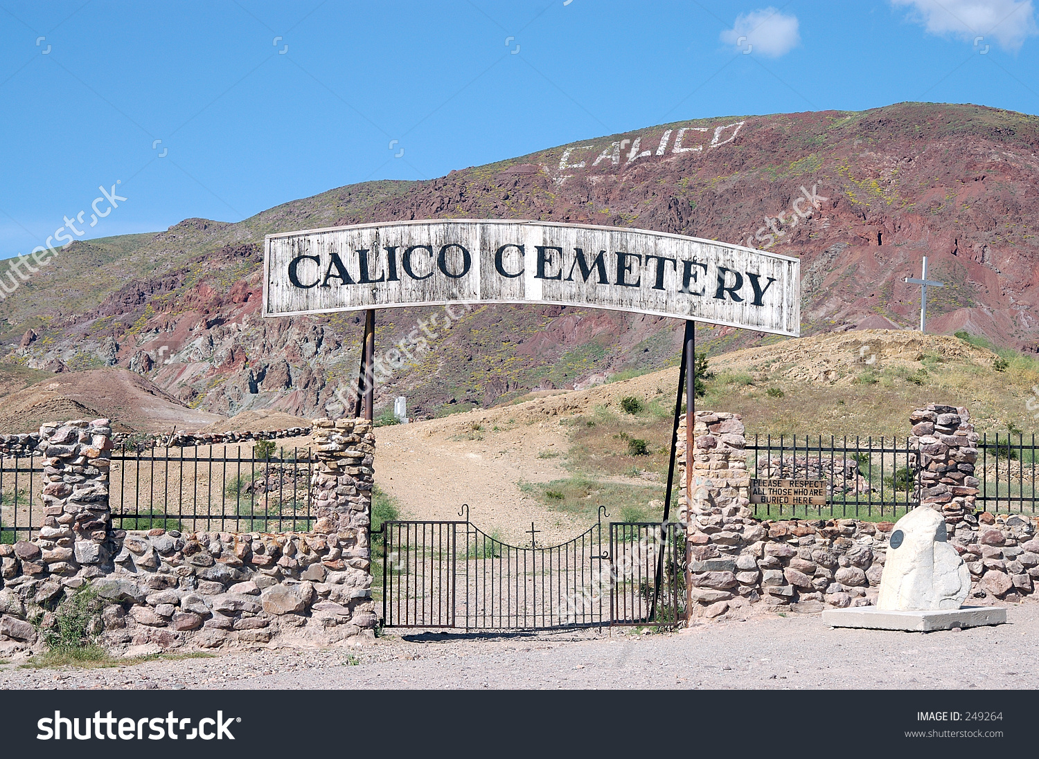 Entrance Calico Ghost Town Cemetery 1890s Stock Photo 249264.
