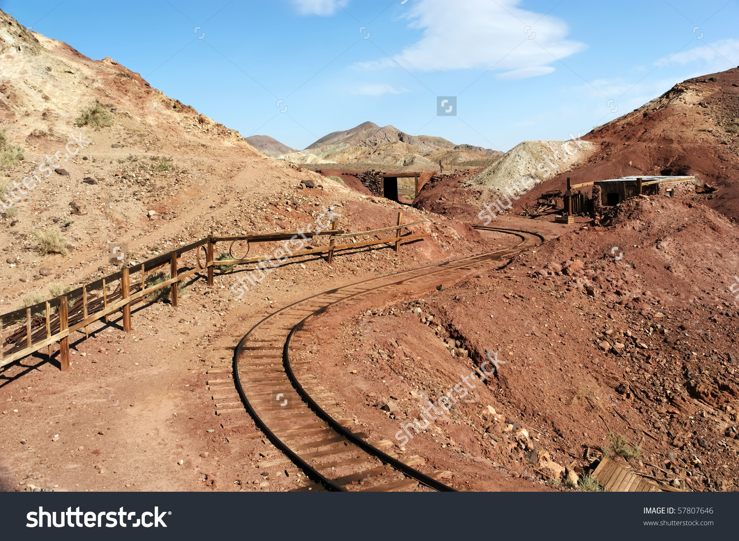 Calico Ghost Town Abandoned Gold Silver Stock Photo 57807646.