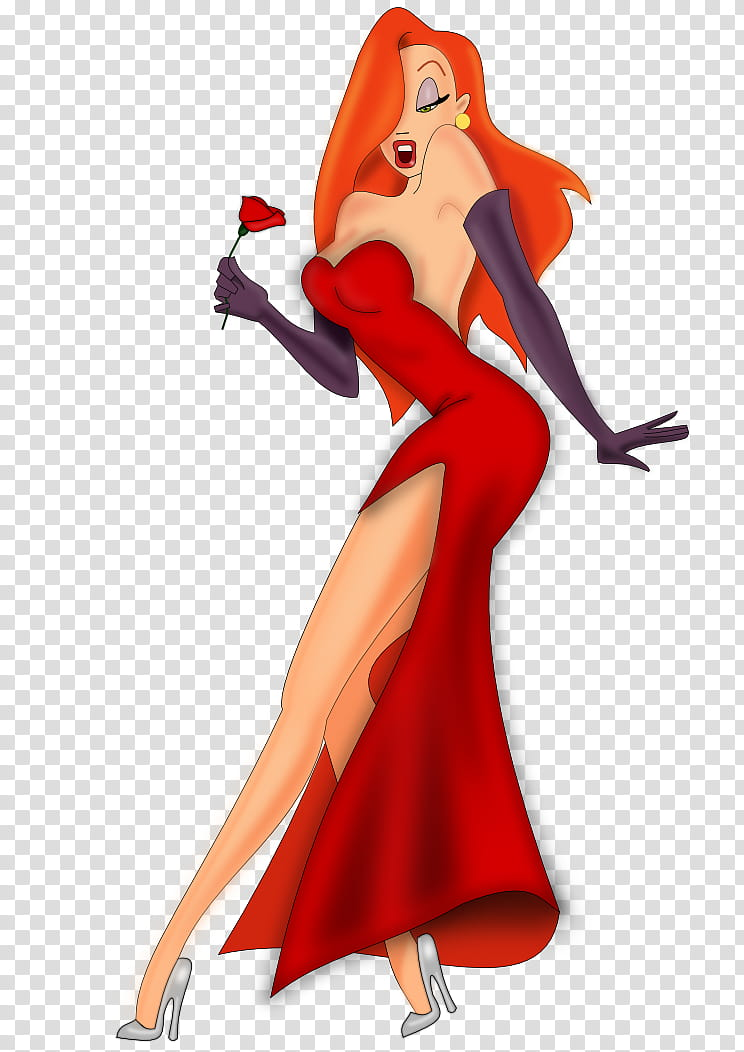 Jessica Rabbit Calidad transparent background PNG clipart.