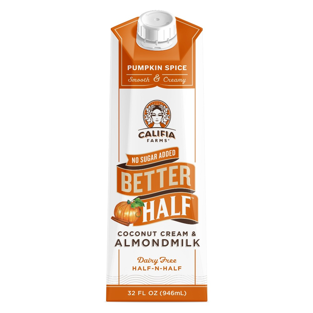 Califia Farms Pumpkin Spice Half.