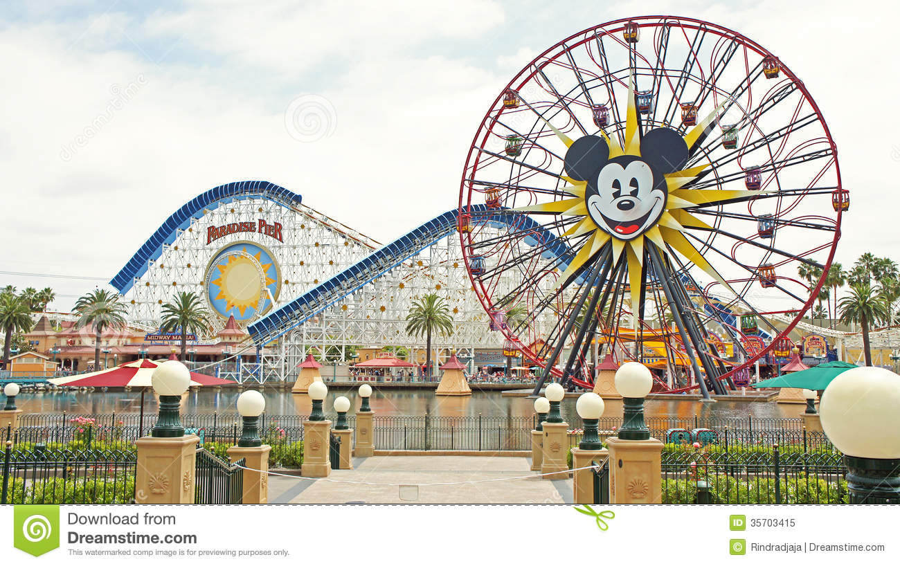 Two Famous Rides At Disney California Adventure Editorial Image.