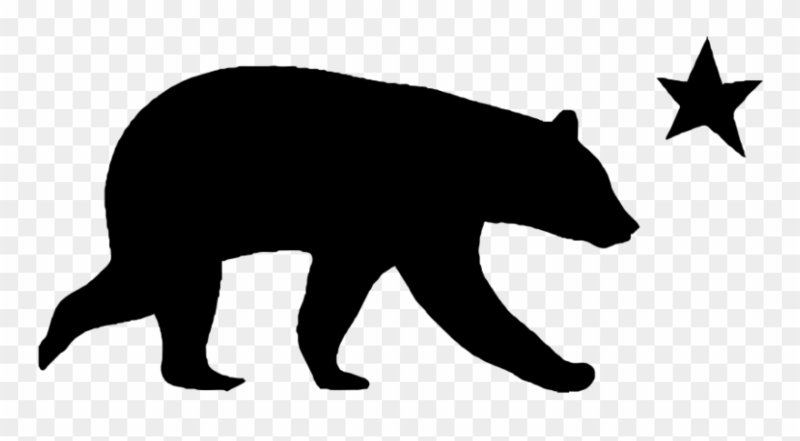 Grizzly Bear Silhouette Clip Art.