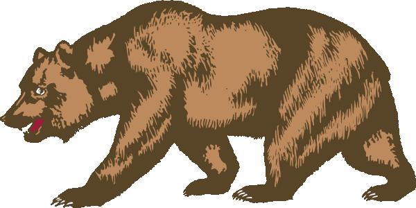 California Bear SVG Clip arts download.