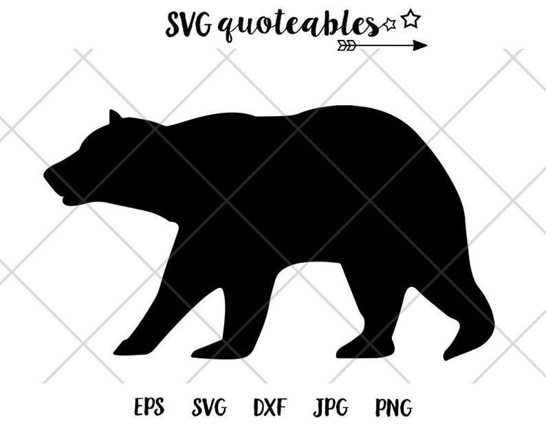 California Bear Silhouette SVG Clipart Cut File, Outdoor Adventure Vector,  Digital Download, Camping Printable.