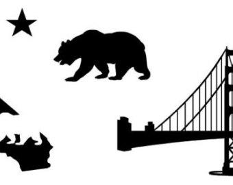 Free California Bear Outline, Download Free Clip Art, Free Clip Art.