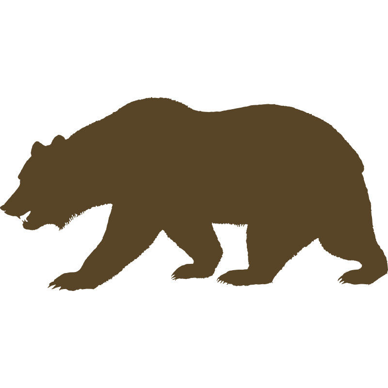california bear outline.