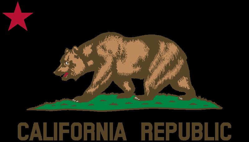 Free Clipart: Flag of California (Bear, Star, Plot, Title).