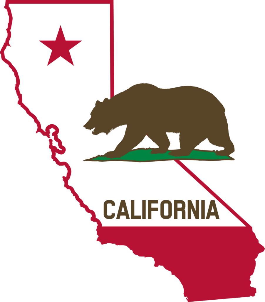 California Bear Map transparent PNG.