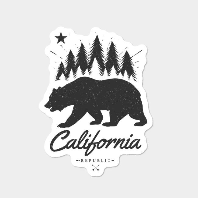 California Bear Flag Republic Sticker By Mitxeldotcom Design By Humans.