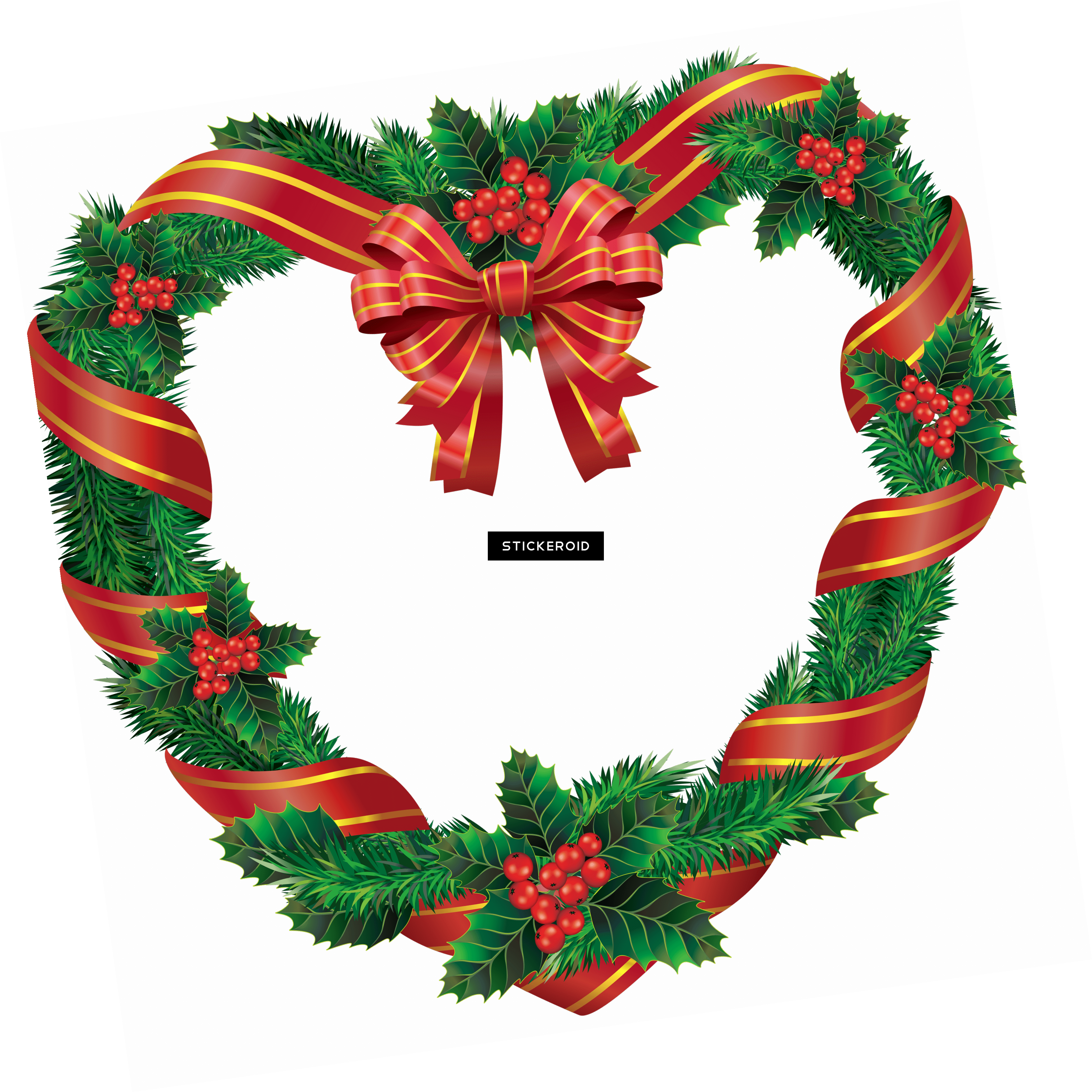Heart Christmas Wreath.