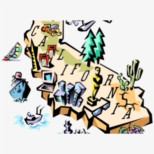 Free Clipart Map Of California Cliparts, Silhouettes, Cartoons Free.