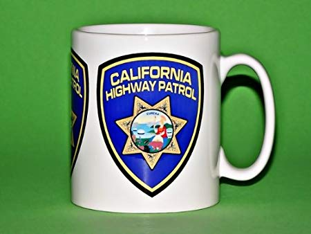 CALIFORNIA HIGHWAY PATROL LOGO MUG: Amazon.co.uk: Kitchen & Home.