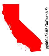 Map California Clip Art.