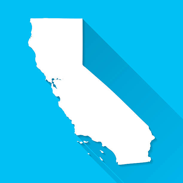 Best California Map Illustrations, Royalty.