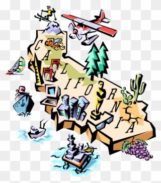 Free PNG Map Of California Clip Art Download.