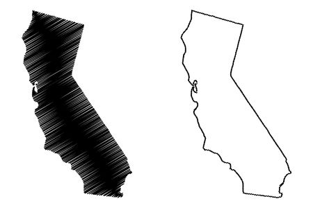 3,589 California Map Cliparts, Stock Vector And Royalty Free.