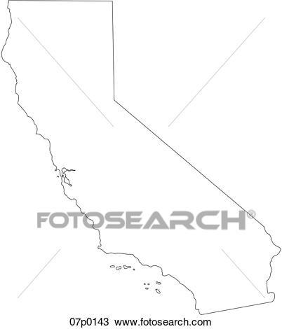 California map Clipart.