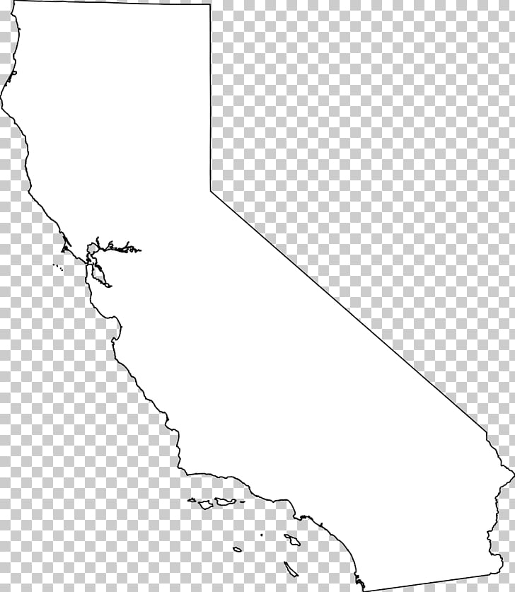 California White Line art Angle Pattern, Outline Of California PNG.