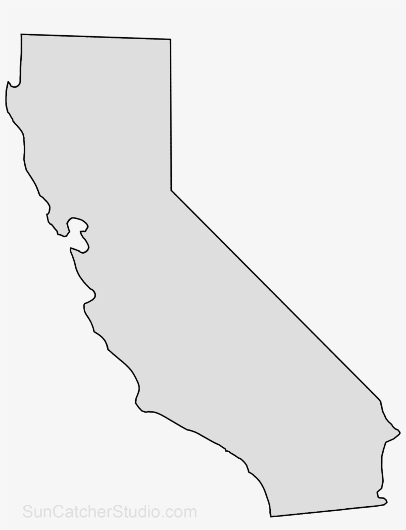 California Map Outline Png Shape State Stencil Clip.